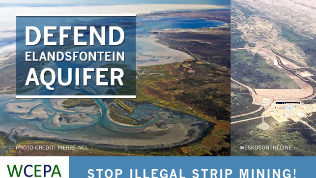 Defend the Elandsfontein aquifer from illegal strip mining!