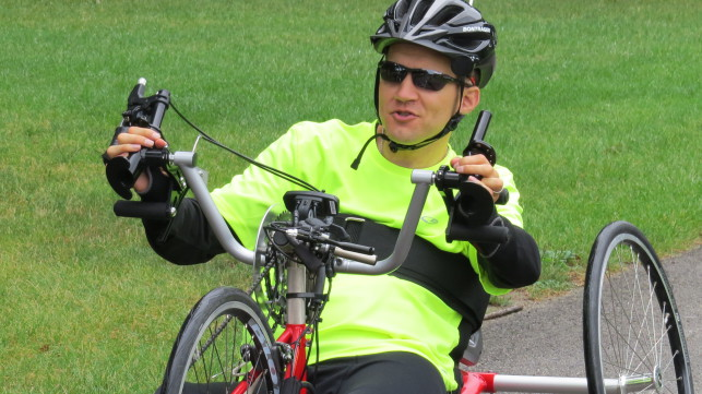 Achilles Hope & Possibility  Hand Cycle Relay Race