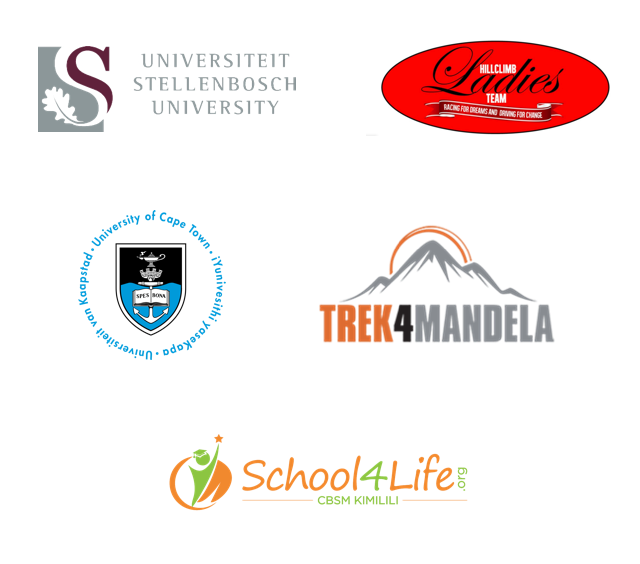 Stellenbosch University, Hillclimb Ladies Team, University of Cape Town, Trek4Mandela, School4Life